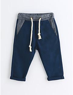 Χαμηλού Κόστους Ρούχα για Αγόρια-Αγορίστικα Παντελόνι Βαμβάκι Μονόχρωμο Άνοιξη Φθινόπωρο Θαλασσί