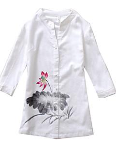 Μπλούζα/Πουκάμισο Κλασσική/Παραδοσιακή Lolita Lolita Cosplay Φορέματα Λολίτα Στάμπα Κοντομάνικο Lolita Μπλούζα Για την Ύφασμα από βαμβάκι