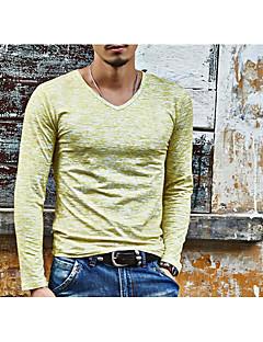 お買い得  メンズファッション&ウェア-男性用 プリント Tシャツ ベーシック Vネック スリム