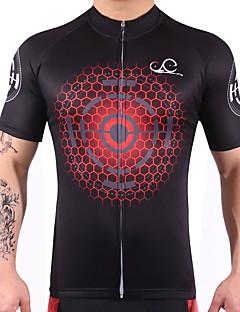 싸이클 져지 남성용 여성용 짧은 소매 자전거 져지 빠른 드라이 피부마찰 감소 높은 탄성 경량 스팬덱스 100% 폴리에스터 LYCRA® 그래픽 여름 산악 사이클링 도로 사이클링 사이클링