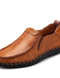 ieftine -Bărbați Pantofi Piele Primăvară Vară Toamnă Confortabili Mocasini & Balerini Plimbare Combinată Pentru Casual Negru Maro Roșu Vin