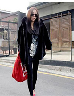 Women's Daily Simple Casual Winter Fur Coat,Solid Hooded Long Sleeve Long Others