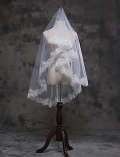 economico Veli da sposa-1 strato Bordi in pizzo Veli da sposa Velo medio (ai fianchi) Con Con applique Tulle