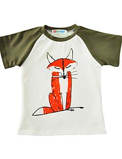 billige Overdele til drenge-Drenge T-shirt Bomuld Sommer Kortærmet Sort Orange Army Grøn