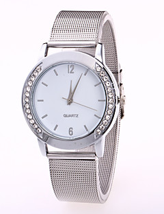 baratos -Mulheres Relógio de Moda Chinês Quartzo Aço Inoxidável Banda Casual Prata