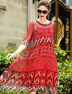 Χαμηλού Κόστους YENMEINAR-Γυναικεία Χαριτωμένο Θήκη Φόρεμα Στάμπα Ως το Γόνατο