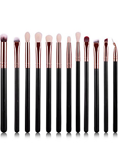 YZIMENG® 15pcs Black Makeup Brushes Set Professional Eyeshadow/Lip/Eyebrow/Concealer Portable Synthetic Hair Make Up for Face