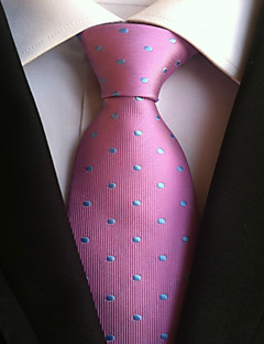 Men's Polyster Neck Tie,Neckwear Dots All Seasons Blushing Pink