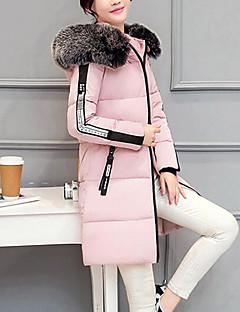 Damen Gefüttert Mantel,Lang Einfach Niedlich Street Schick Ausgehen Lässig/Alltäglich Solide Druck-Andere Polypropylen Langarm