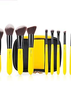 MSQ 10 stcke Gelb/Schwarz Pro Make-Up Pinsel Set Schnheit Tools Puder Lidschatten Blending Foundation Zitrone bilden Kosmetik Kit