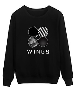 Women's Going out Sweatshirt Print Round Neck Micro-elastic Others Long Sleeve Summer