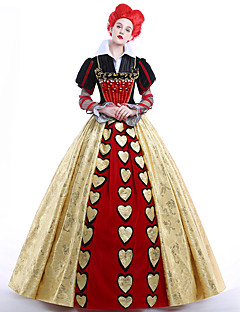 cheap -Queen of Hearts Cosplay Costume Party Costume Masquerade Movie Cosplay Dress Petticoat Wig Christmas Halloween Carnival New Year Ssatin