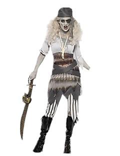 baratos Trajes da Noite das Bruxas-Pirata / Fantasias Fantasias de Cosplay / Baile de Máscara Mulheres Dia Das Bruxas / Carnaval Festival / Celebração Trajes da Noite das Bruxas Outro / Vintage