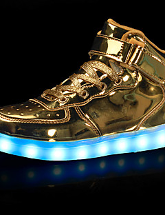 cheap -Boys' Shoes Leatherette Fall / Winter Comfort / Light Up Shoes Sneakers Walking Shoes Hook & Loop / LED for Black / Silver / Red / Rubber