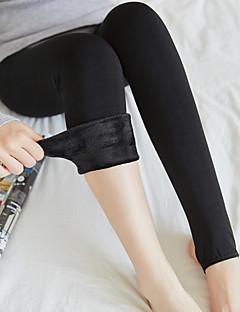 billige Sokker og strømper til damer-Dame Strømpebukse-Ensfarget Varm
