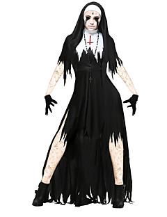 Skeleton / Skull Zombie Cosplay One Piece Dress Cosplay Costumes Female Unisex Halloween Carnival Day of the Dead Festival / Holiday