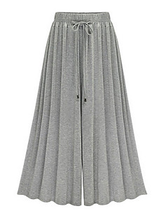 Women's High Rise Inelastic Loose Wide Leg Pants,Street chic Loose Wide Leg Bow Solid