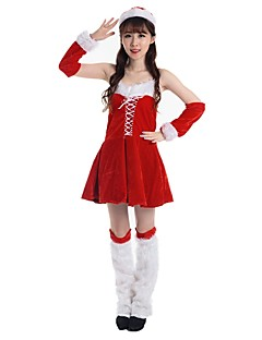 Nisse drakter Badedrakt/Kjoler Drakter Kvinnelig Voksne Jul Festival/høytid Halloween-kostymer Vintage