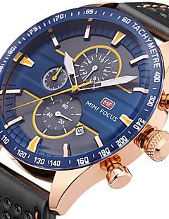 Herrn Armbanduhr Einzigartige kreative Uhr Armbanduhren für den Alltag Sportuhr Modeuhr Quartz Kalender Chronograph Stopuhr Echtes Leder