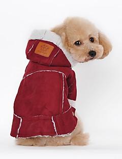 billiga Hundkläder-Hund Kappor Hundkläder Enfärgad Fuchsia Brun Pälsimitation Kostym För husdjur Fest Ledigt/vardag Håller värmen Sport