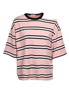 Χαμηλού Κόστους T-shirt-Γυναικεία T-shirt Μονόχρωμο Ριγέ Βαμβάκι