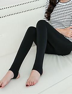Damenmode dick flauschig gefüttert einfarbig legging, solide, warm