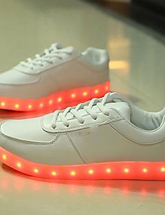 hesapli -Erkek Ayakkabı Yapay Deri Kış Sonbahar Işıklı Ayakkabılar Spor Ayakkabısı Günlük Dış mekan için LED Beyaz Siyah