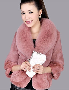Для женщин На выход На каждый день Осень Зима Куртка Воротник шалевого типа,Активный Однотонный Короткая С короткими рукавами,