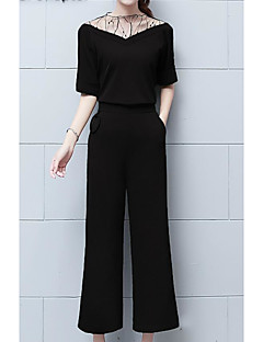 Women's Going out Work Casual Sexy Spring Fall Blouse Pant Suits