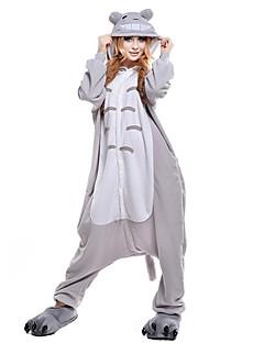 Kigurumi Pijama Kedi Totoro Tulum Pijamalar Kostüm Mercan Kumaş Gri Cosplay İçin Yetişkin Hayvan Sleepwear Karikatür cadılar bayramı