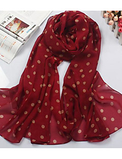Women's Cotton Rectangle Polka Dot Spring Fall Green Black Red Beige Navy Blue