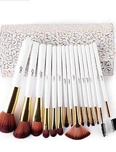 Msq 15 buc de machiaj perie set de păr artificială make-up perie cosmetice set perie cu delicat de culoare alb model pu cazul