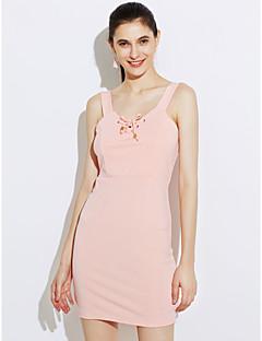 tanie AW 18 Trends-Damskie Bodycon Sukienka - Jendolity kolor, Bez pleców Krzyżujęce się Bez ramiączek Wysoki stan