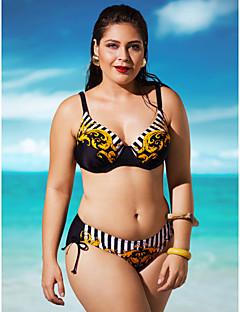 Kvinner Bohem / Push-Opp Halter Bikini Nylon / Spandex