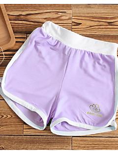billige Bukser og leggings til piger-Pige Shorts Ensfarvet Sommer Lyserød Grå Lilla Rosa Kakifarvet