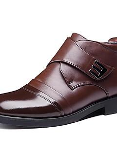 Erkek Ayakkabı Deri Sonbahar Kış Kar Botları Çizmeler Bootiler/ Bilek Botları Uyumluluk Düğün Günlük Parti ve Gece Siyah Kahve