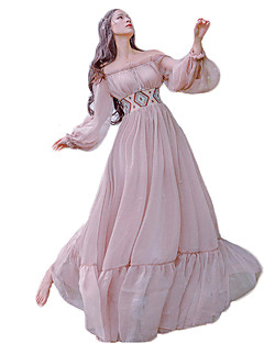 Sweet Lolita Dress Princess Lace Women's Girls' One Piece Dress Cosplay Pink Bishop Long Sleeves