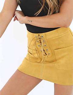 Χαμηλού Κόστους Bodysuits styles-Γυναικεία Εφαρμοστό Κομψό στυλ street Φούστες - Μονόχρωμο