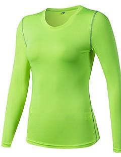 billiga Träning-, jogging- och yogakläder-Dam Rund hals T-shirt för jogging - Ljusröd, Marinblå, Frukt grön sporter T-shirt / Collegetröja / Överdelar Yoga, Fitness, Gym Långärmad Sportkläder Lättvikt, Mateial som andas, Stretch Elastisk