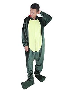 billige Kigurumi-Kigurumi-pysjamas med tøfler Dinosaur Drage Onesie-pysjamas Kostume Flannelstoff Grønn Rosa Cosplay Til Pysjamas med dyremotiv Tegnefilm