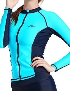 Femme Résistant aux UV Extensible Chinlon Tenue de plongée Manches Longues Hauts/Tops-Surf Plongée Automne Eté Couleur Pleine
