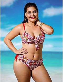 Kvinner Push-Opp Bohem Grime Bikini Spandex Nylon