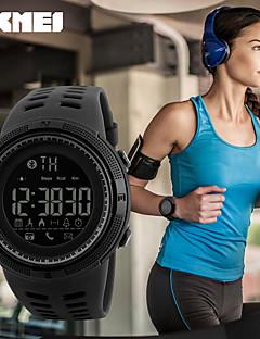 Herrn Sportuhr Smart Watch Digitaluhr Japanisch Quartz Kalender Wasserdicht Fernbedienungskontrolle Schrittzähler Nachts leuchtend PU Band