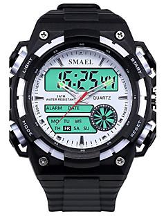 billige Modeure-Herre Quartz Digital Digital Watch Armbåndsur Smartur Militærur Sportsur Kinesisk Alarm Kalender Vandafvisende LED Stor urskive