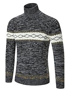 tanie Męskie swetry i swetry rozpinane-Męskie Golf Pulower Geometryczny
