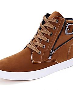 hesapli -Erkek Ayakkabı Süet Kış Sonbahar Rahat Spor Ayakkabısı Günlük Dış mekan için Fermuar Siyah Sarı Mavi
