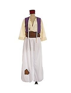 abordables -Inspiré par Cosplay Aladdin Manga Costumes de Cosplay Costumes Cosplay Géométrique Rétro Manches Longues Gilet Ceinture Chapeau Plus