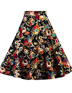 Women's Going out Midi Skirts,Vintage A Line Floral Print Summer