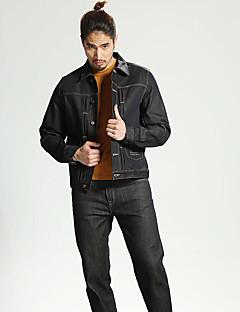 メンズ カジュアル/普段着 秋 ジャケット,ストリートファッション シャツカラー プリント レギュラー コットン 長袖