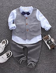 Jungen Sets Streifen Baumwolle Frühling Herbst Lange Ärmel Kleidungs Set